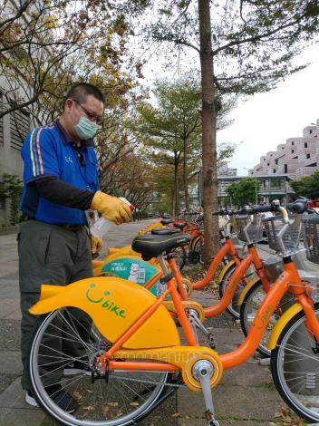 u-bike消毒照片