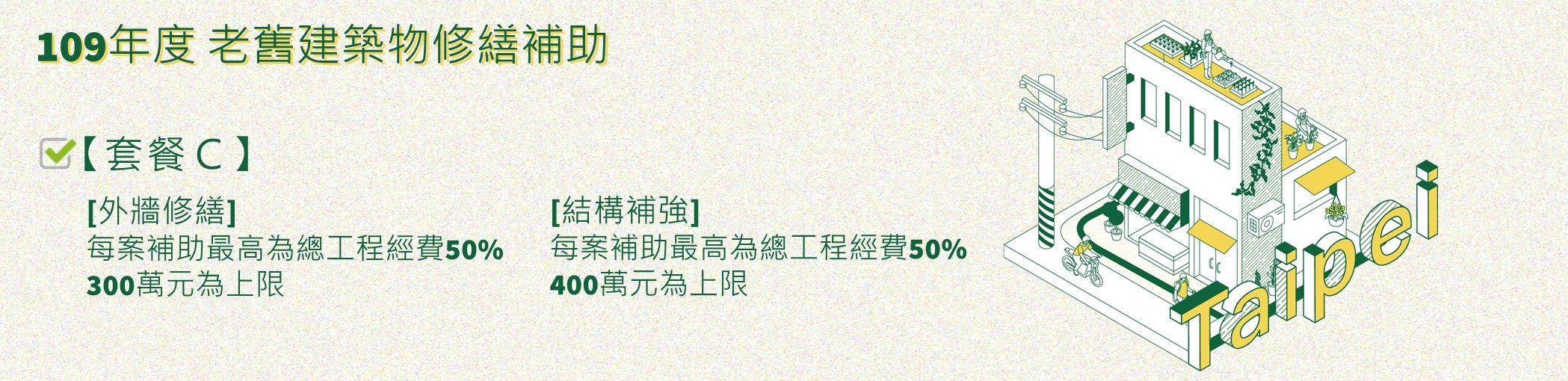 109年度臺北市協助老舊建築物修繕補助申請專區