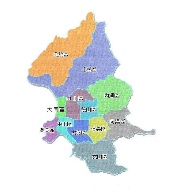 臺北市行政區地圖
