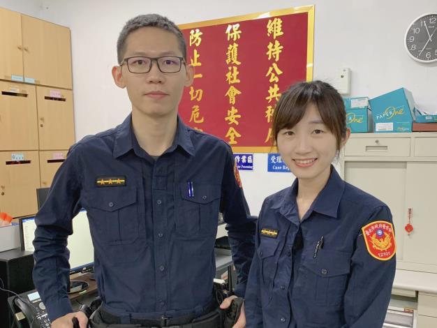 圖說2:內湖分局大湖派出所警員胡雅婷(右)、謝承樺.JPG