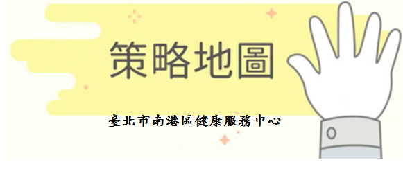 臺北市南港區健康服務中心策略地圖