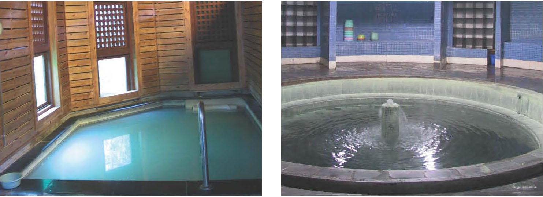左右二圖皆為前山公園公共溫泉浴室 (免費)