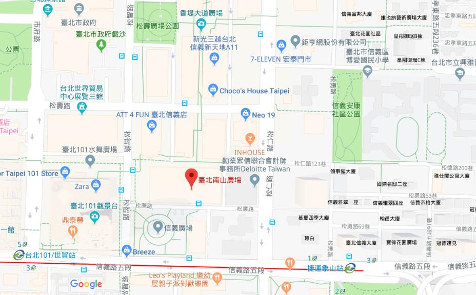 臺北南山廣場案位置圖