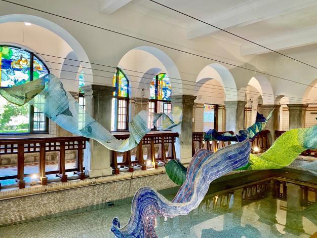 館慶22生日藝術裝置《蘊藏》系列_北投溫泉博物館1樓大浴池