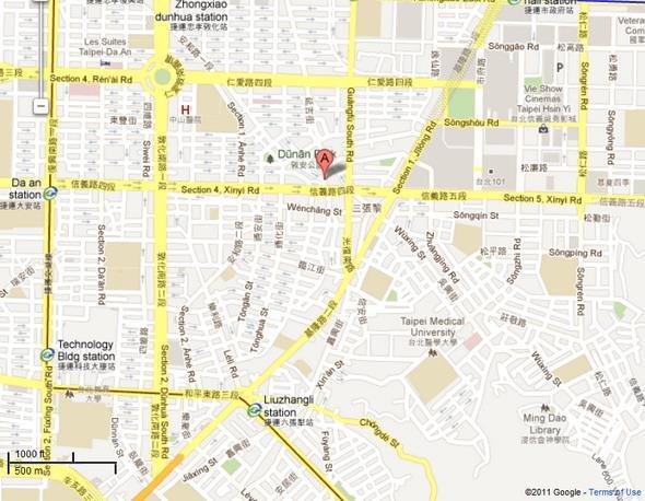 Location of  Taipei City Daan Land Office