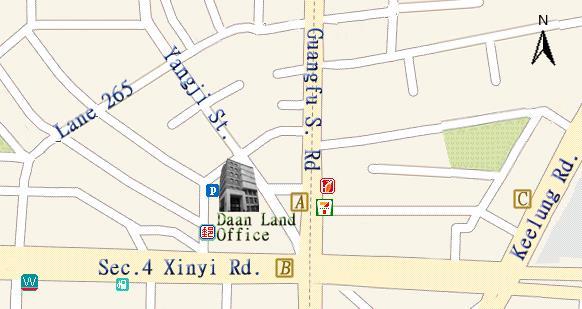 Location of Daan Land Office