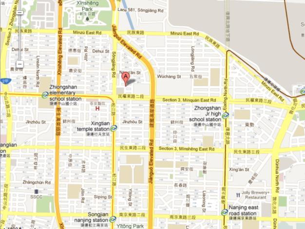 Location of  Taipei City Zhongshan Land Office