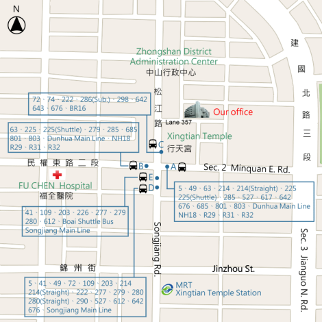 Location of Zhongshan Land Office