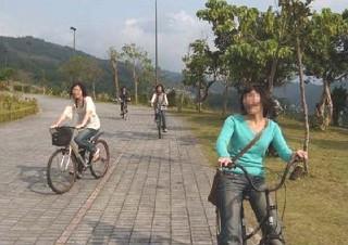 Regenerated Fudekeng, Sanshuilu Parks Offer Cycling Fun