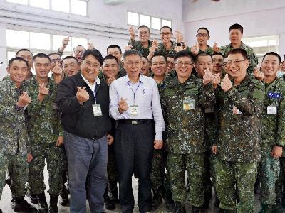 Mayor Visits Military Camp, Salutes Soldiers
