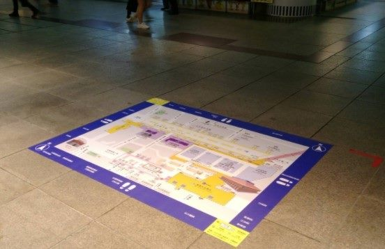 Map Flooring Installed at Taipei Main Station to Help Navigation