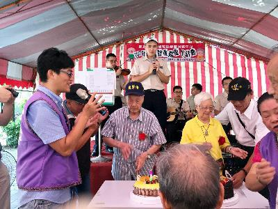 Alternative Service Conscripts Entertain Senior Citizens at Moon Festival Event