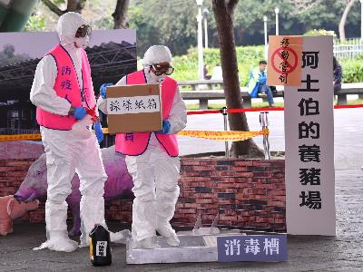 Mayor Oversees African Swine Fever Response Drill