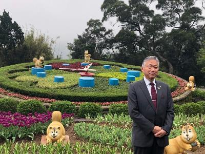 Japanese Mayor Visits Yangmingshan's Cherry Blossoms