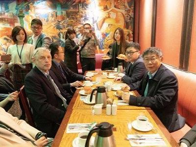 Mayor in US, Day 2: Meets with Andrew Nathan, Taiwanese Students, Expats, Visits 9/11 Memorial