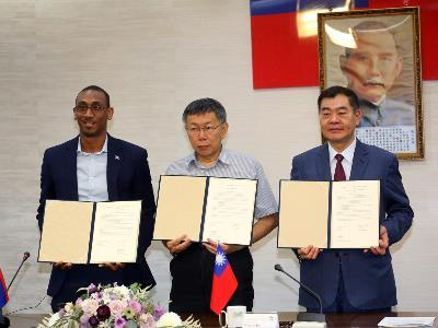 New Sister City Relationship Established between Taipei, Belmopan