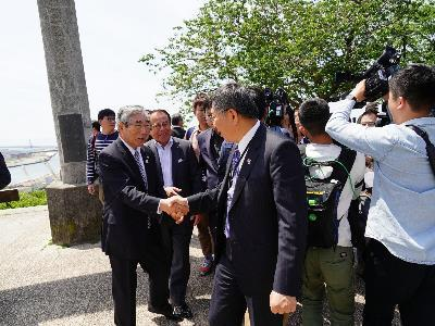 [Japan Trip] Mayor: Considering the Possibility of Forming a Task Force to Study Post-disaster Large Scale Urban Reconstruction