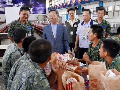 City Officials Visit Draftees in Chengkungling