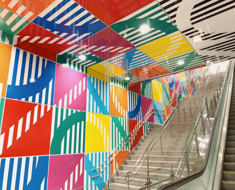 New public art installation at MRT Banqiao Station