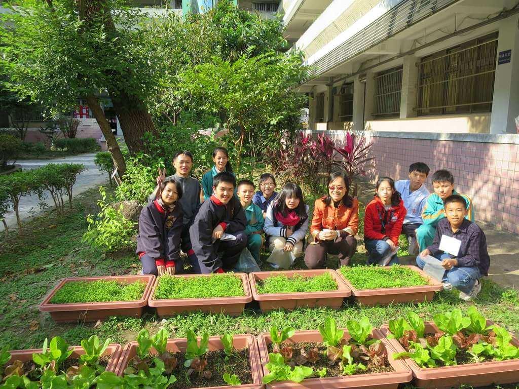 Students enjoying gardening fun