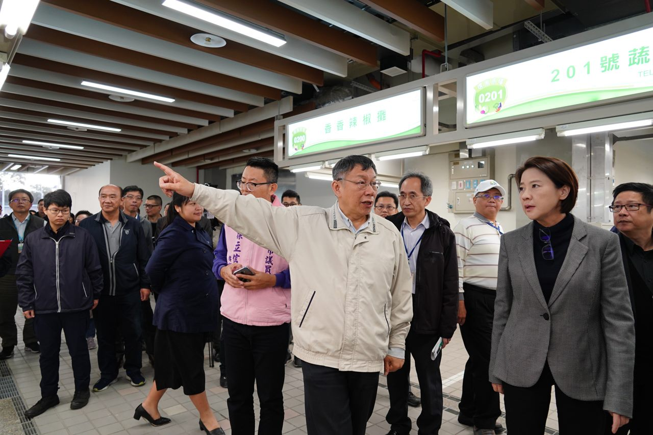 Mayor Ko inspects Huannan Market ahead of opening