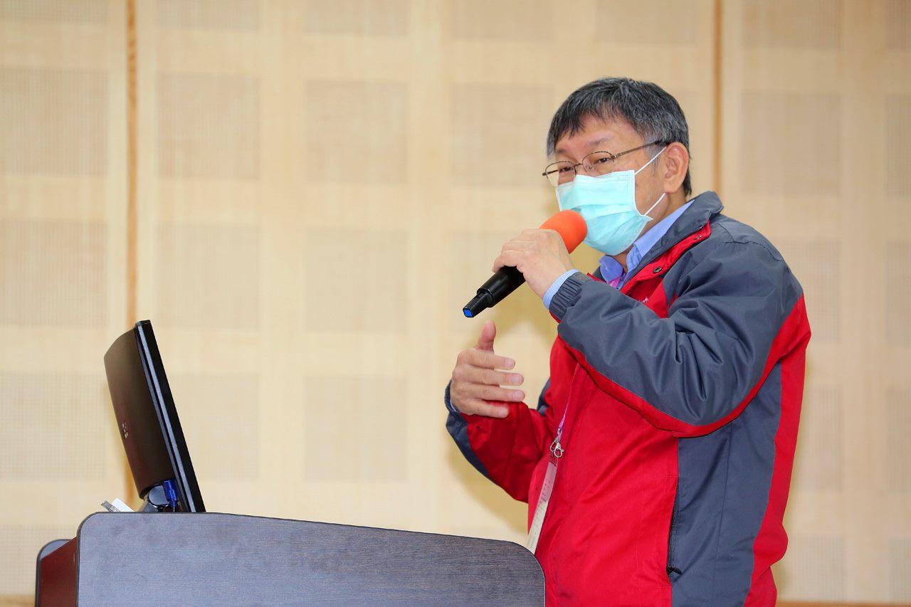 Mayor Ko Wen-je speaks at an event