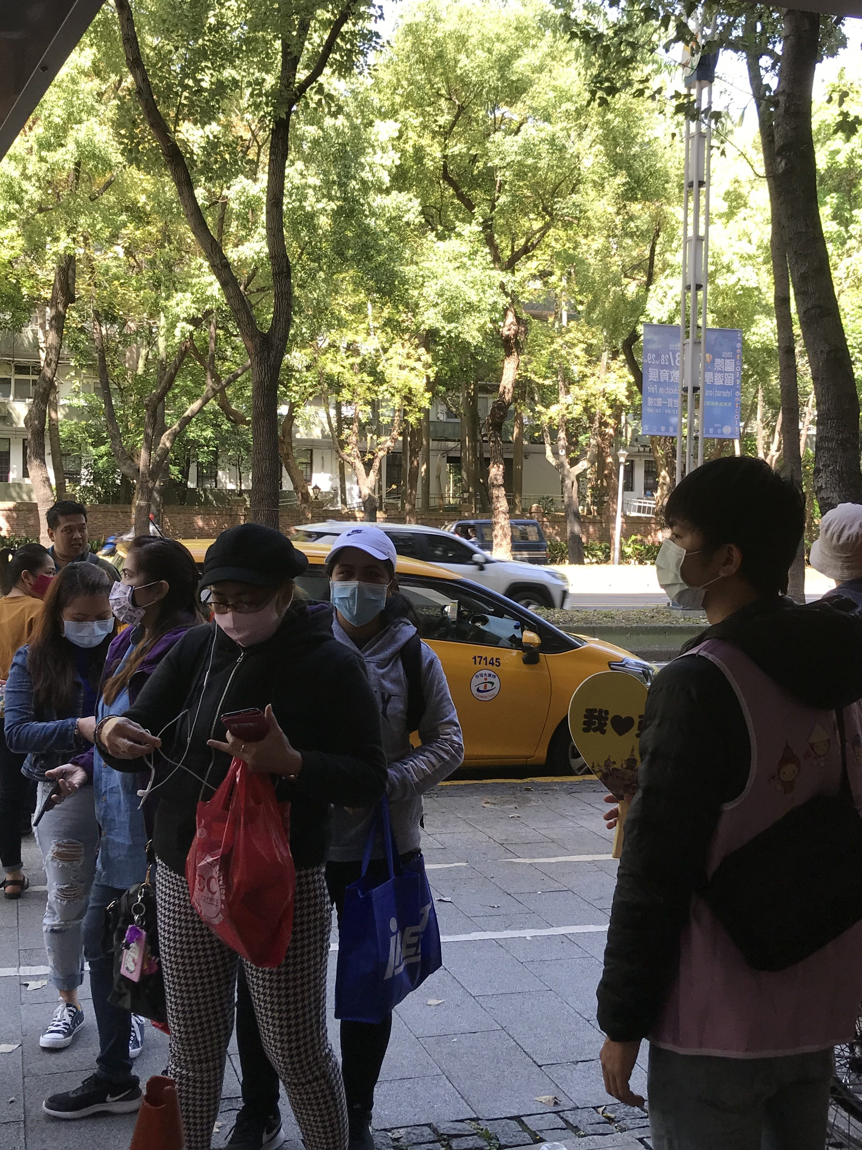 Migrant workers in Taipei