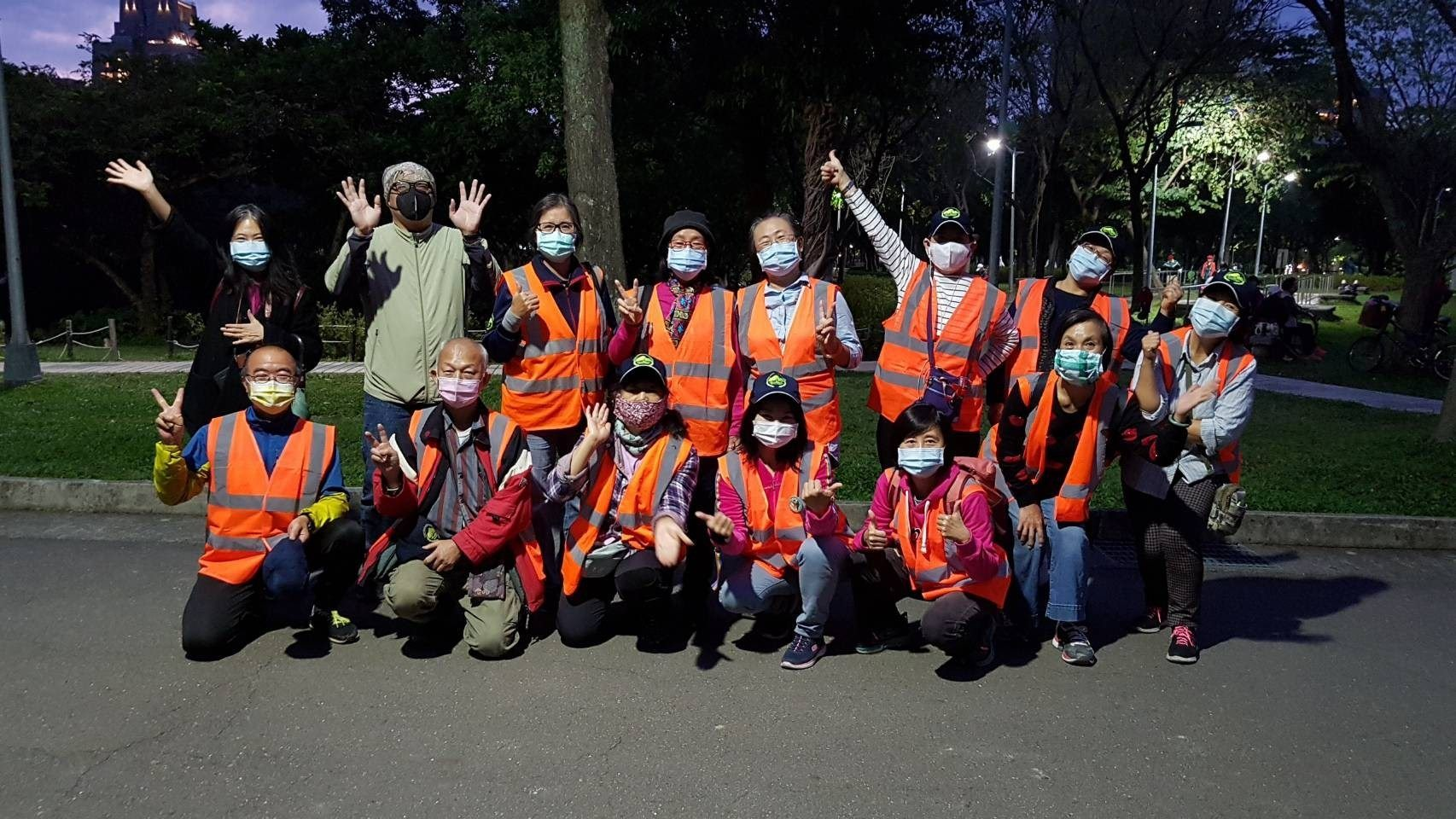 Volunteers contributing to firefly conservation at Daan Forest Park