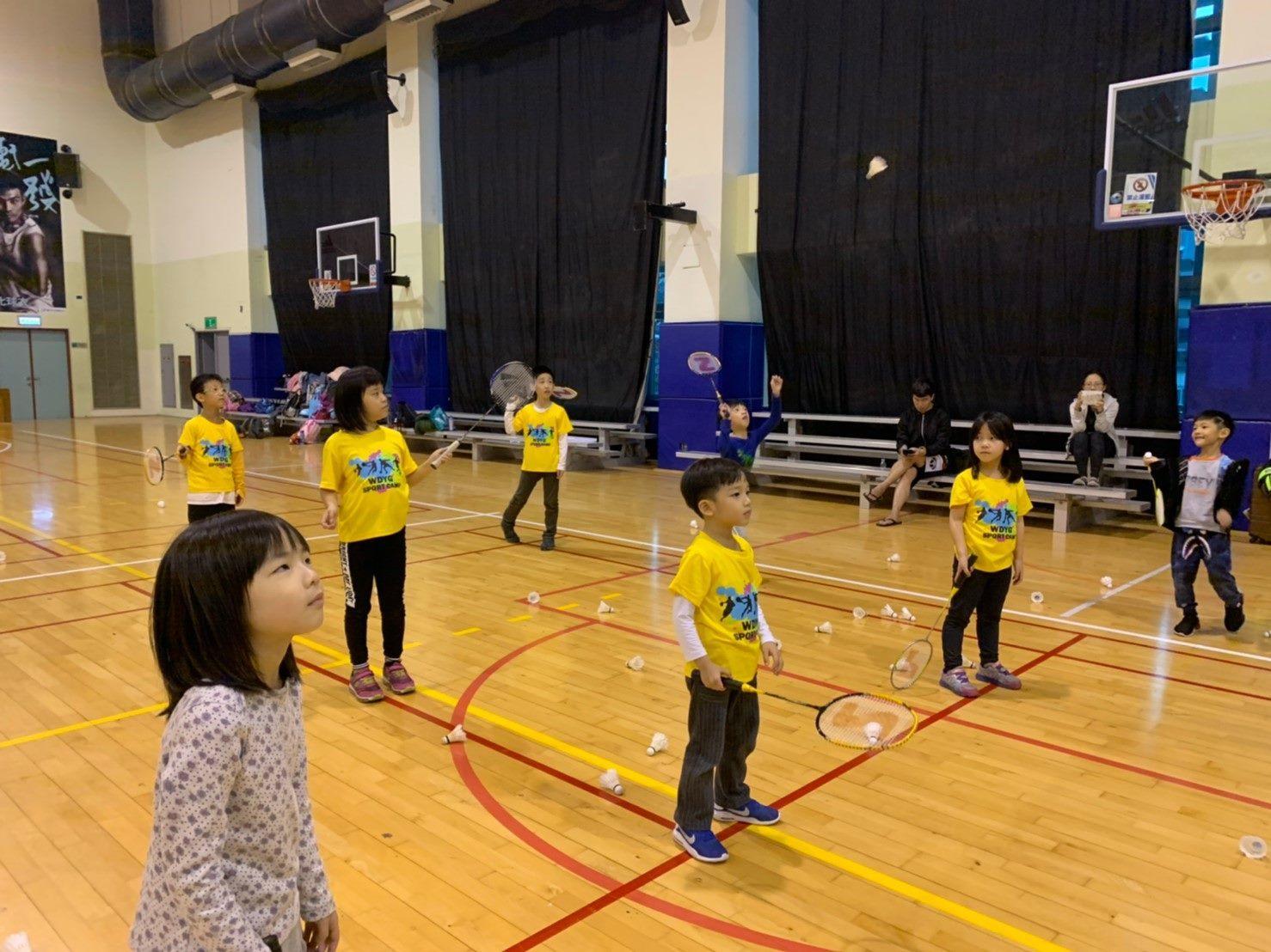 Kids attending sports summer camp
