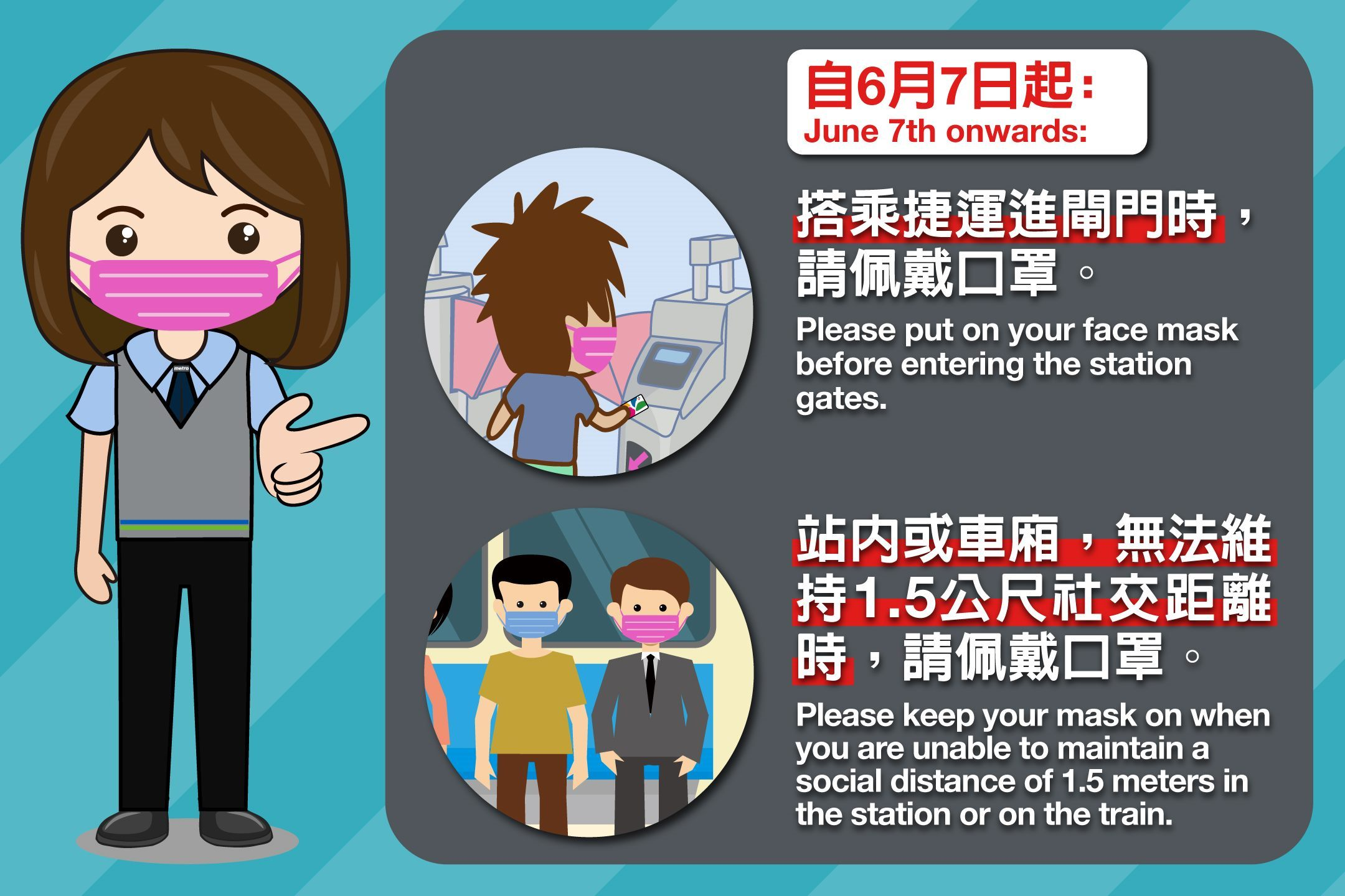 Updated MRT face mask regulations taking effect June 7