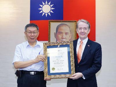 Mayor Ko with Representative Wittich