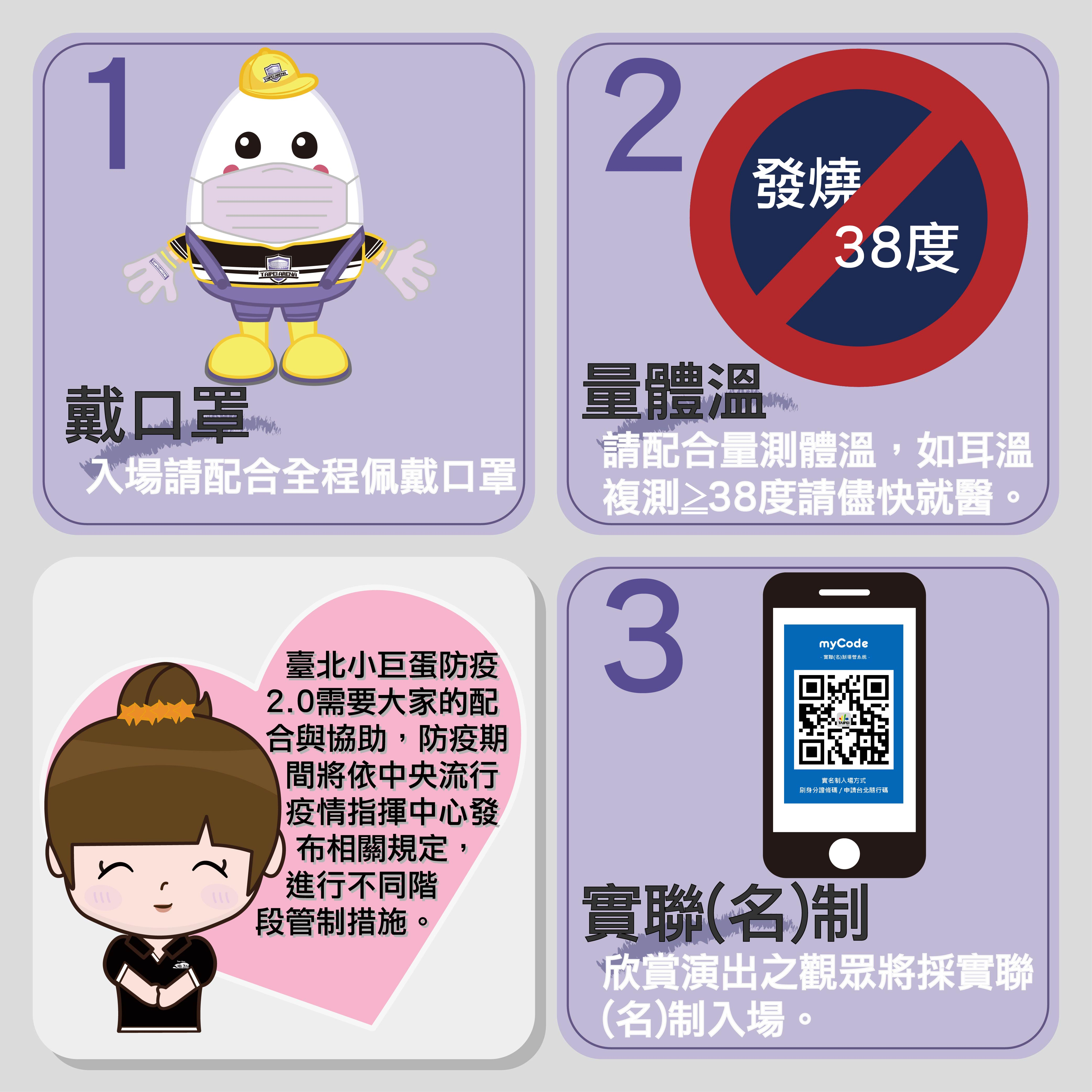 Promotion poster for visitor's COVID-19 prevention measures
