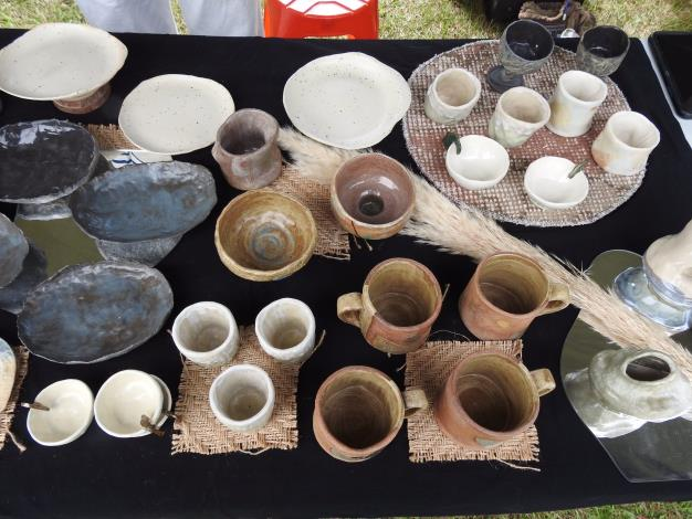 Products at the flea market