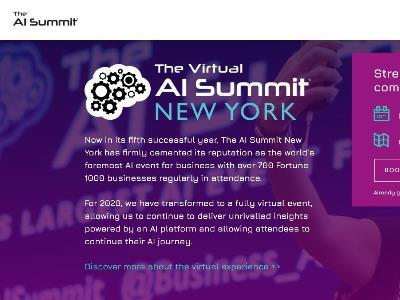 """The official website of """"The Virtual AI Summit New York"""""""