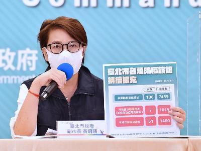Deputy Mayor Huang at the press conference
