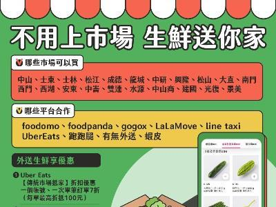Taipei City Government's new policy on promoting partnership between logistics platforms and market vendors
