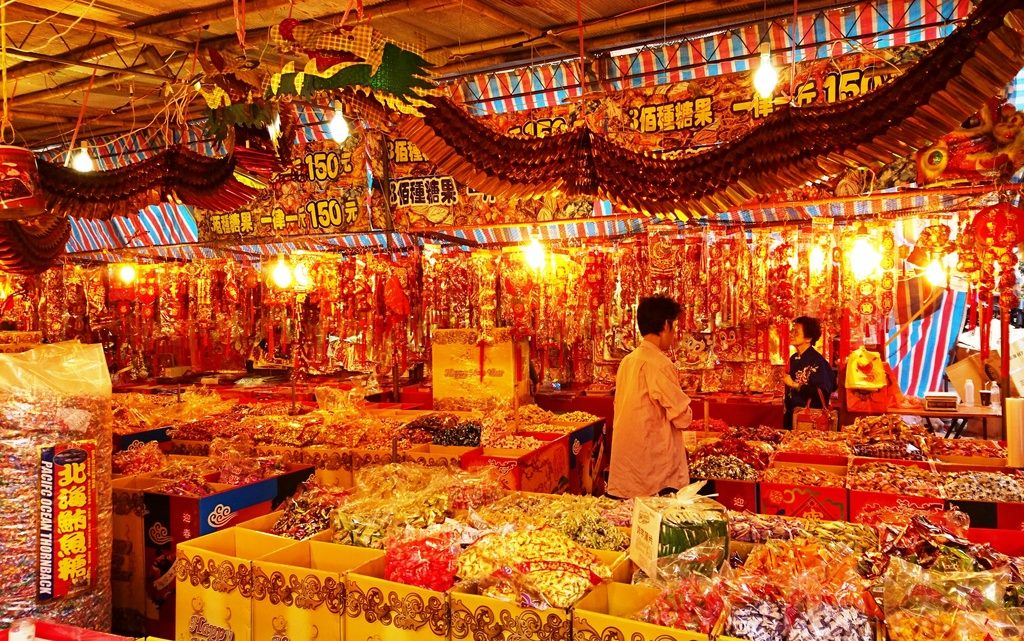 CNY street bazaar features a variety of goods