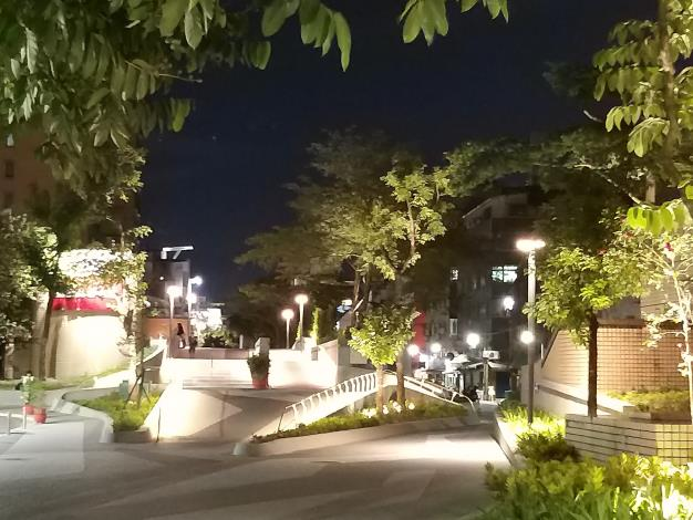 Linear park night view