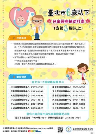 兒童醫療補助宣導三折頁背面(1070530 )