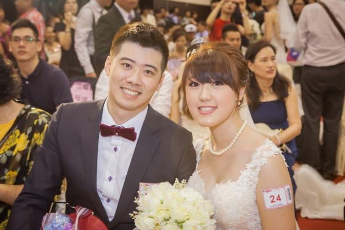 婚禮會場幸福新人