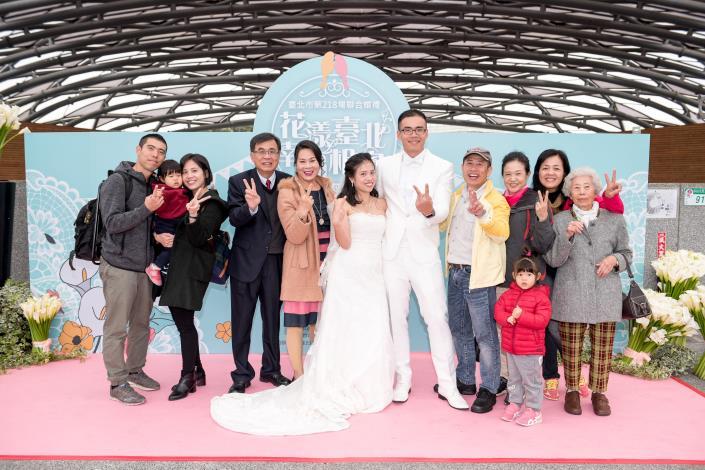 臺北市第218場聯合婚禮-主題拍照區