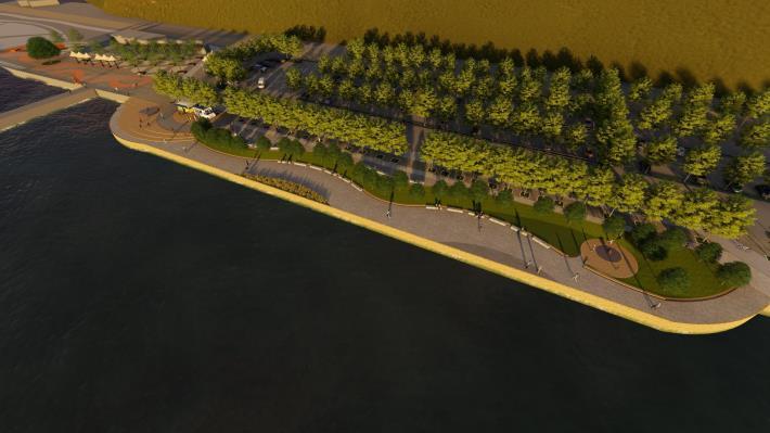 關渡碼頭區將有新氣象 北市斥資打造河岸新風光 示意圖 (4)