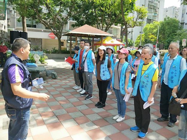 水利處在中華公園舉辦「松山區中華里自主防災防汛演練」