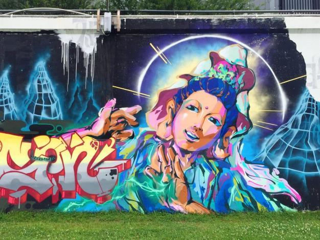 歡迎大家來發揮創意 北市河濱公園內的7處堤壁塗鴉區 已塗刷完畢