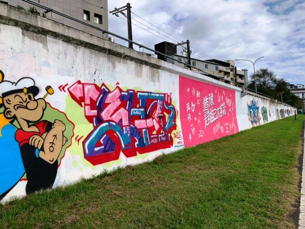 北市河濱公園內的7處堤壁塗鴉區 已塗刷完畢 歡迎大家來發揮創意