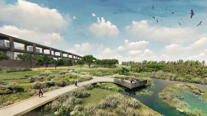 景美溪下游-新店溪匯流處設計模擬圖
