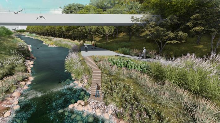台北市景美溪上游-指南溪匯流處設計模擬圖