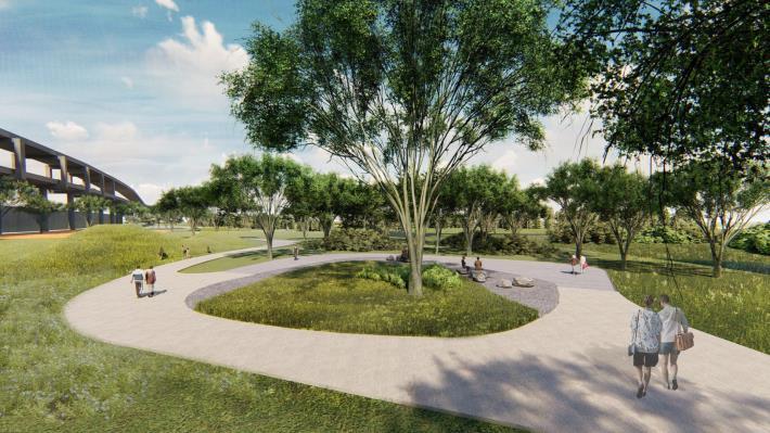 北市景美溪下游-新店溪匯流處設計模擬圖