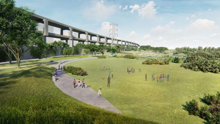 北市景美溪下游--新店溪匯流處設計模擬圖