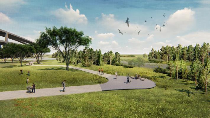 台北市景美溪下游-新店溪匯流處設計模擬圖